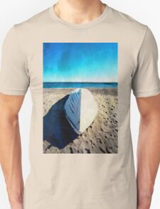 Boat on the beach in watercolor Unisex T-Shirt