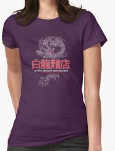 White Dragon Noodle Bar - ½ White Cut Cantonese Variant Womens Fitted T-Shirt