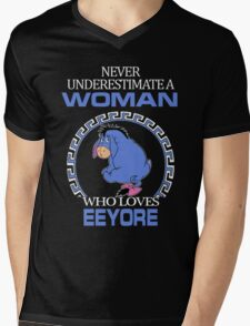 Never Underestimate A Woman Who Loves Eeyore T-shirts Mens V-Neck T-Shirt