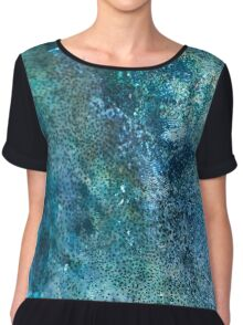 Abstract blue scales Chiffon Top
