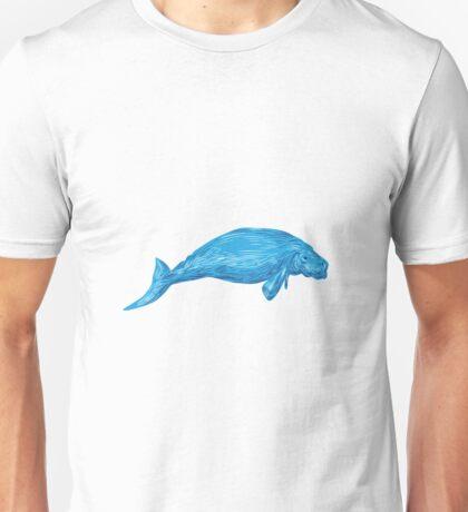 Dugong Drawing Unisex T-Shirt