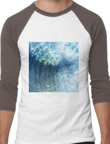 Abstract blue scales .2 Men's Baseball ¾ T-Shirt