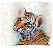 Tiger Cub Watercolor Art Poster