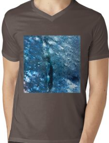 Abstract blue scales 3 Mens V-Neck T-Shirt