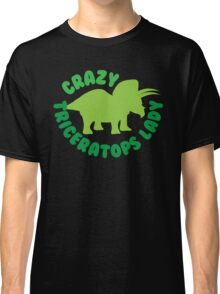 Crazy triceratops lady (dinosaur) Classic T-Shirt