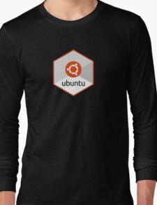 ubuntu linux unix operating system hexagonal Long Sleeve T-Shirt