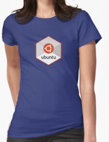 ubuntu linux unix operating system hexagonal Womens Fitted T-Shirt