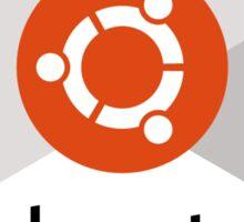 ubuntu linux unix operating system hexagonal Sticker