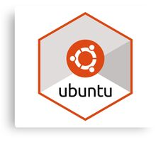 ubuntu linux unix operating system hexagonal Canvas Print