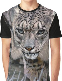 Wildlife Art - Snow Leopard Graphic T-Shirt