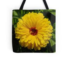 Holligold Blossoming Yellow Pot Marigold Flower Tote Bag