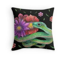 i will bring you flowers  Throw Pillow