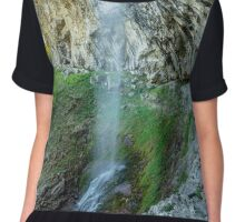 Waterfall in mountains Chiffon Top