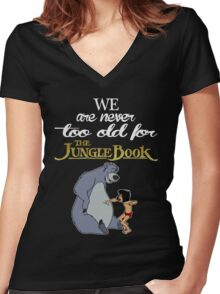 We Are Never Too Old For The Jungle Book T-shirts Women's Fitted V-Neck T-Shirt