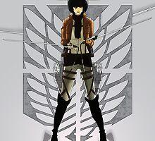 Warrior Mikasa by PioMateo