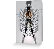 Warrior Mikasa Greeting Card