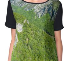 Limestone mountains Chiffon Top