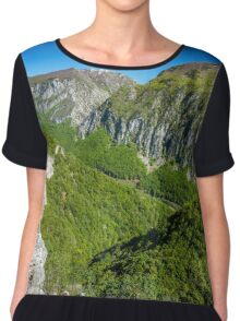 Limestone mountains Chiffon Top