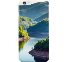 Lake between mountains iPhone Case/Skin