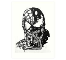 Spiderman vs Venom Art Print