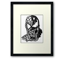 Spiderman vs Venom Framed Print