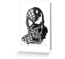 Spiderman vs Venom Greeting Card