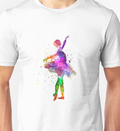 Young woman ballerina ballet dancer dancing with tutu Unisex T-Shirt