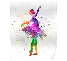 Young woman ballerina ballet dancer dancing with tutu Poster
