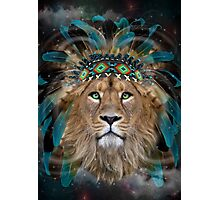 Fight For What You Love (Chief of Dreams: Lion)  Photographic Print