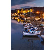 Boats & Castle Photographic Print