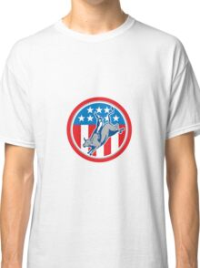 American Rodeo Bull Riding Circle Cartoon Classic T-Shirt