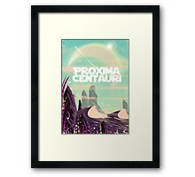Proxima Centauri science fiction travel poster. Framed Print