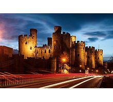 Conwy Castle at Night Photographic Print