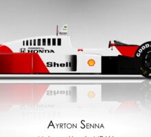 Ayrton Senna - McLaren MP4/4 - Spotlight Art Print Sticker