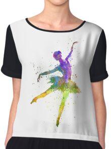 woman ballerina ballet dancer dancing  Chiffon Top