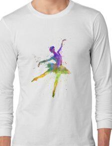 woman ballerina ballet dancer dancing  Long Sleeve T-Shirt