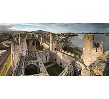 Conwy Castle Panorama Photographic Print