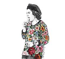 Floral H Photographic Print