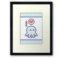 Cute Blue Octopus Framed Print