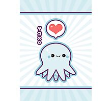 Cute Blue Octopus Photographic Print