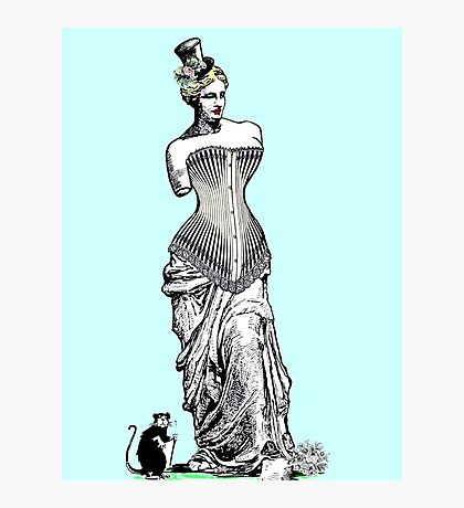 Goddess of love in corset Photographic Print