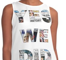 Yes We Did: Obama 2008 Commemorative Front Pages Contrast Tank