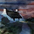 cottage evening by Claudia Dingle