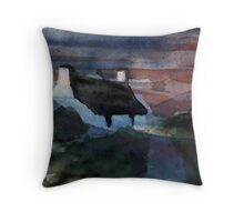 cottage evening Throw Pillow