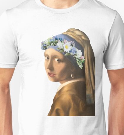 Girl with the pearl earring Unisex T-Shirt