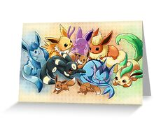 pokemon: eevee and it's evolutions  Greeting Card