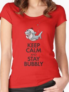 Keep calm and stay bubbly Women's Fitted Scoop T-Shirt