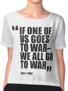 Conor McGregor - Quotes [War] Chiffon Top