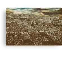 Aerial View Of Bucharest City In Romania Canvas Print