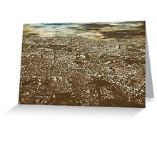 Aerial View Of Bucharest City In Romania Greeting Card
